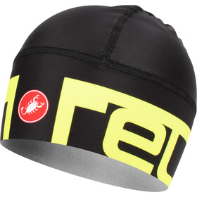 Castelli Viva 2 Thermo Skully Hat black/yellow fluo